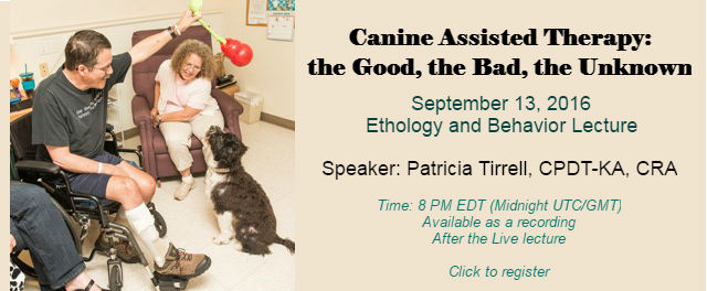 Canine Assisted Therapy Webinar